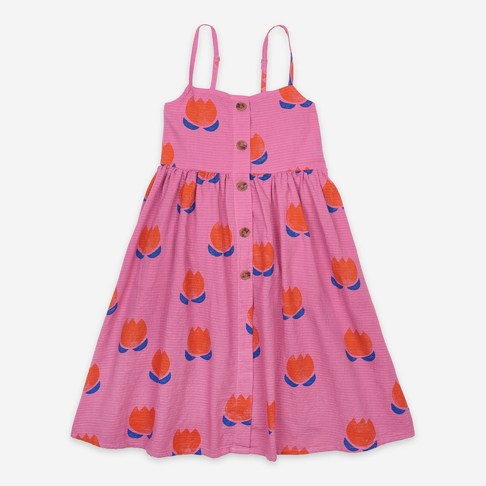 Chocolate Flowers Woven Dress by Bobo Choses