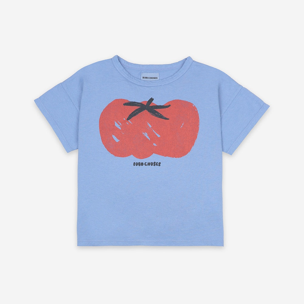 Tomato Short Sleeve Kids T-Shirt by Bobo Choses