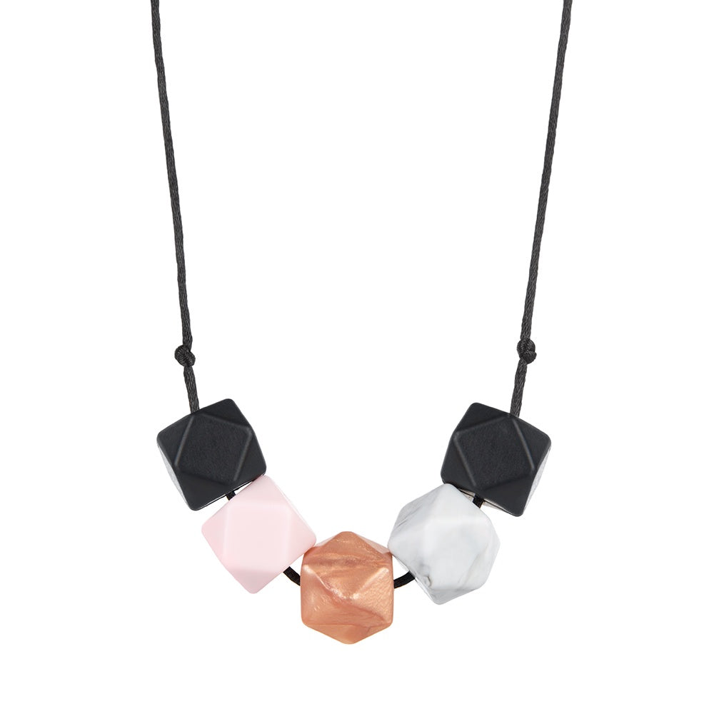 Metal & Stone Teething Necklace, boochew- Trapeze Kids