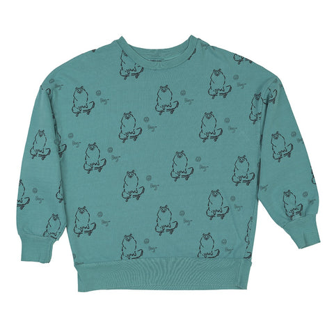 Skate Dog Sweater, Fresh Dinosaurs- Trapeze Kids
