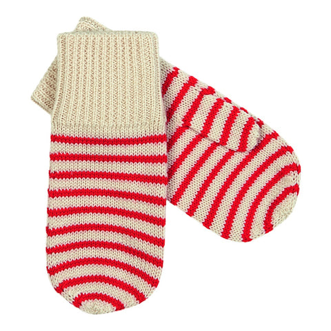 Fine Stripe Mittens Red, fub- Trapeze Kids