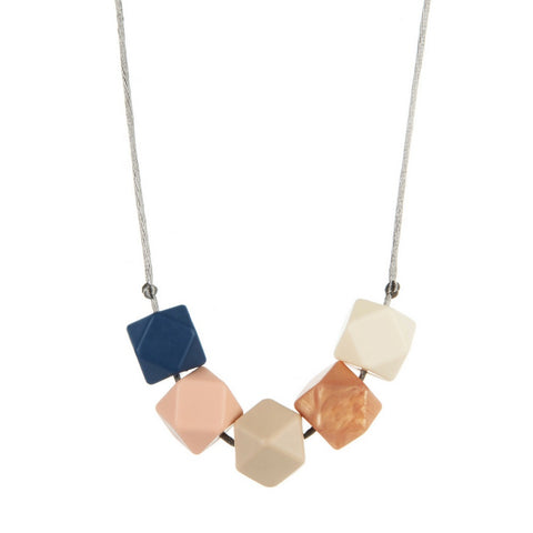 Suzie Denim Teething Necklace, boochew- Trapeze Kids