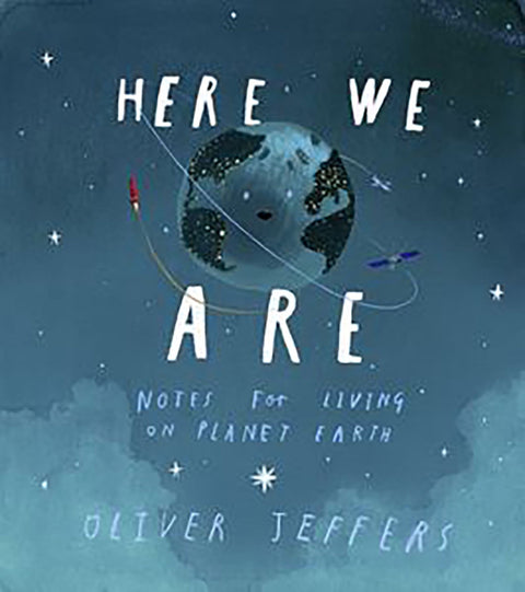 Here We Are hardback story book by Oliver Jeffers