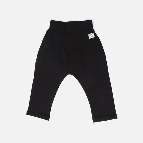 Lucky Black Harem Trouser, Indikidual- Trapeze Kids