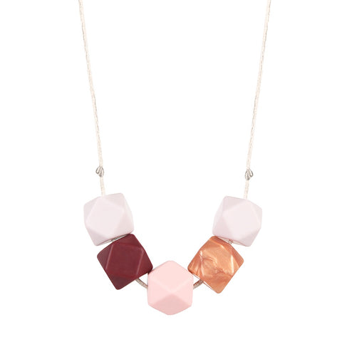 Primrose Gold Teething Necklace, boochew- Trapeze Kids