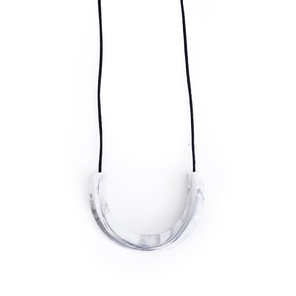 Marble Luna Teething Necklace, boochew- Trapeze Kids