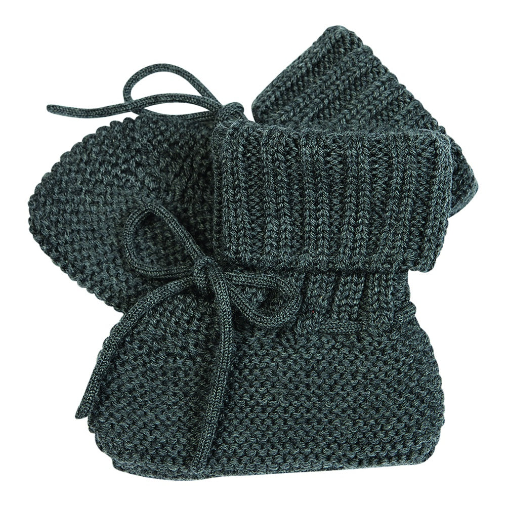Fine Knit Booties Grey, fub- Trapeze Kids