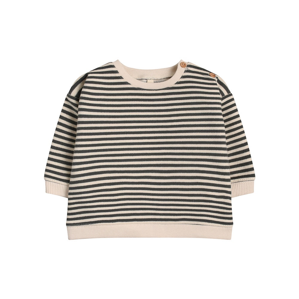 Organic cotton kids stripe sweatshirt by Organic Zoo