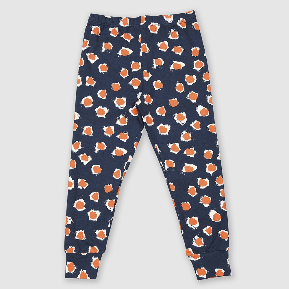 Orange Painted Dot Legging, Small Stories- Trapeze Kids