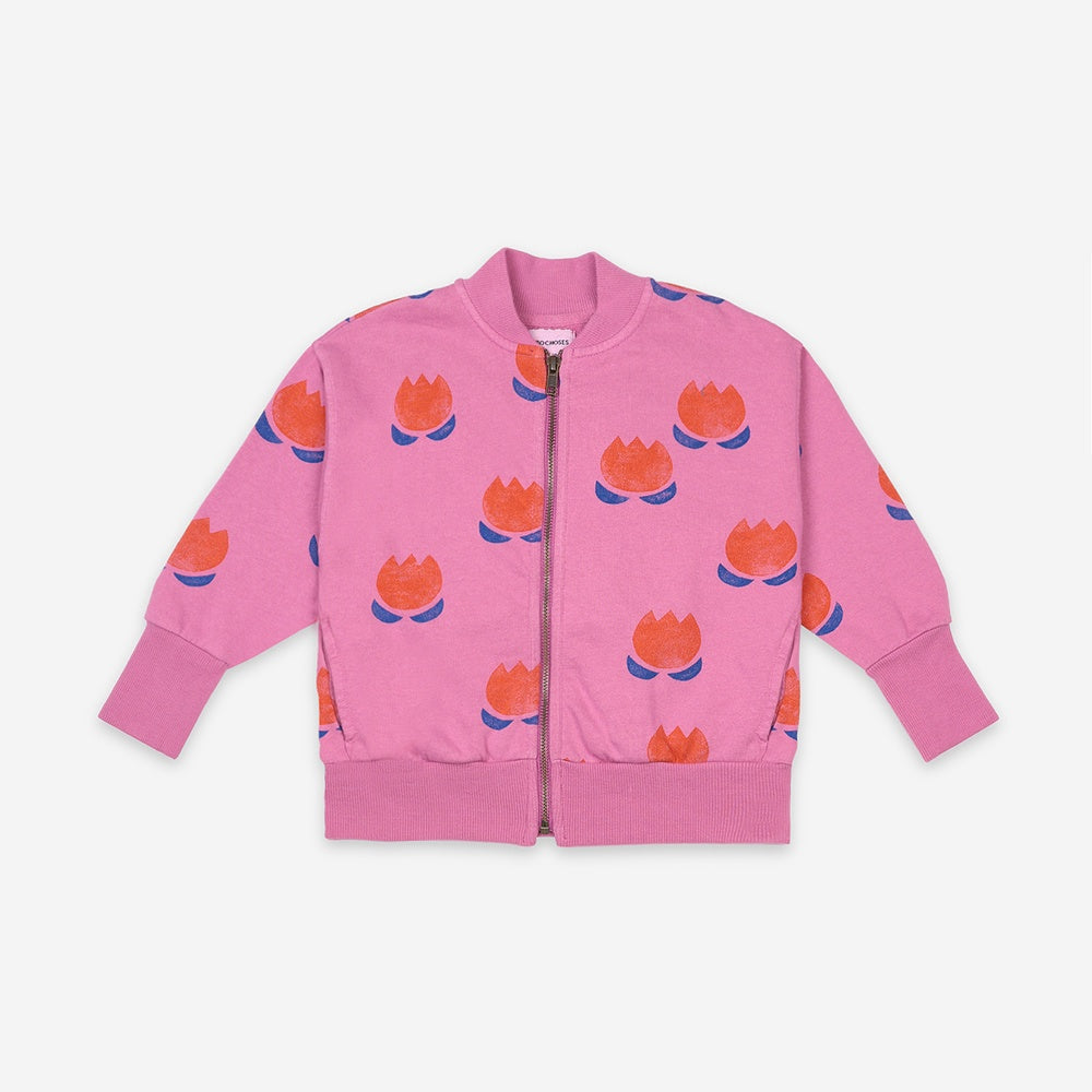 Kids Chocolate Flower Zipped Sweatshirt by Bobo Choses