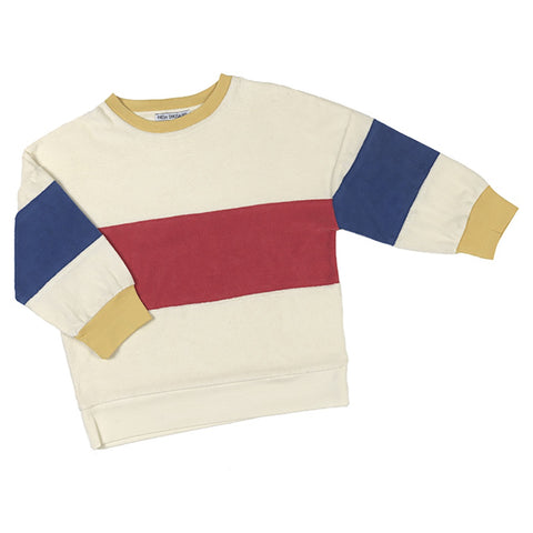 Tri Colour Sweater, Fresh Dinosaurs- Trapeze Kids