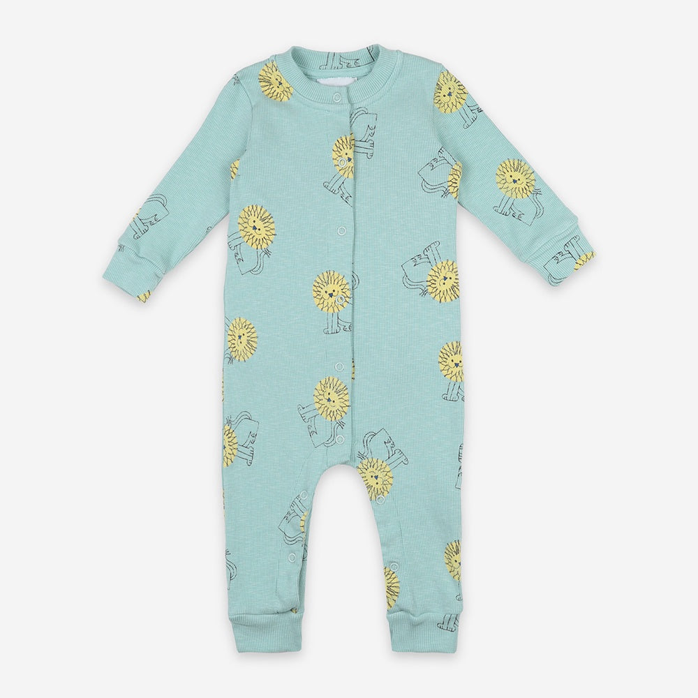 Pet a Lion Rib Baby Overall by Bobo Choses