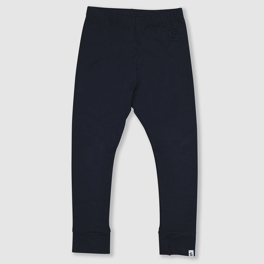 Plain Navy Legging, Small Stories- Trapeze Kids