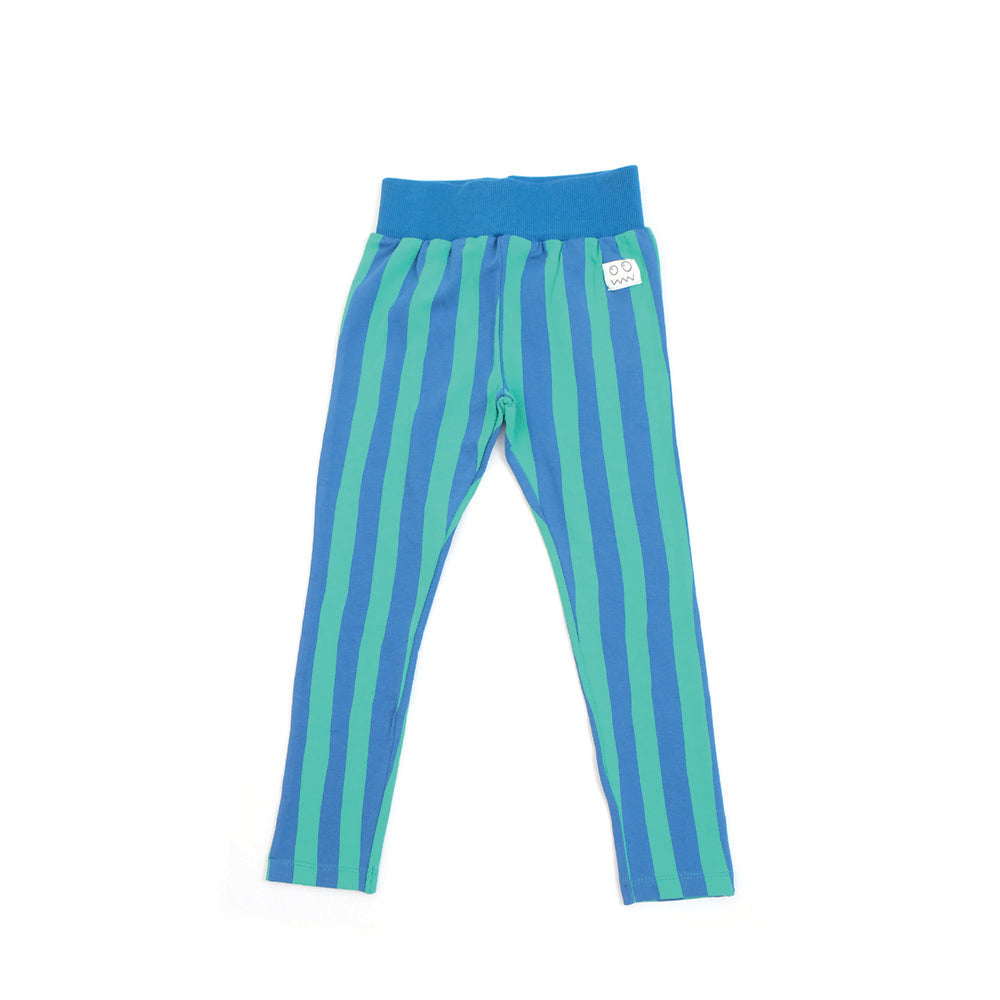 Organic Cotton Blue Stripe Deckchair Leggings by Indikidual