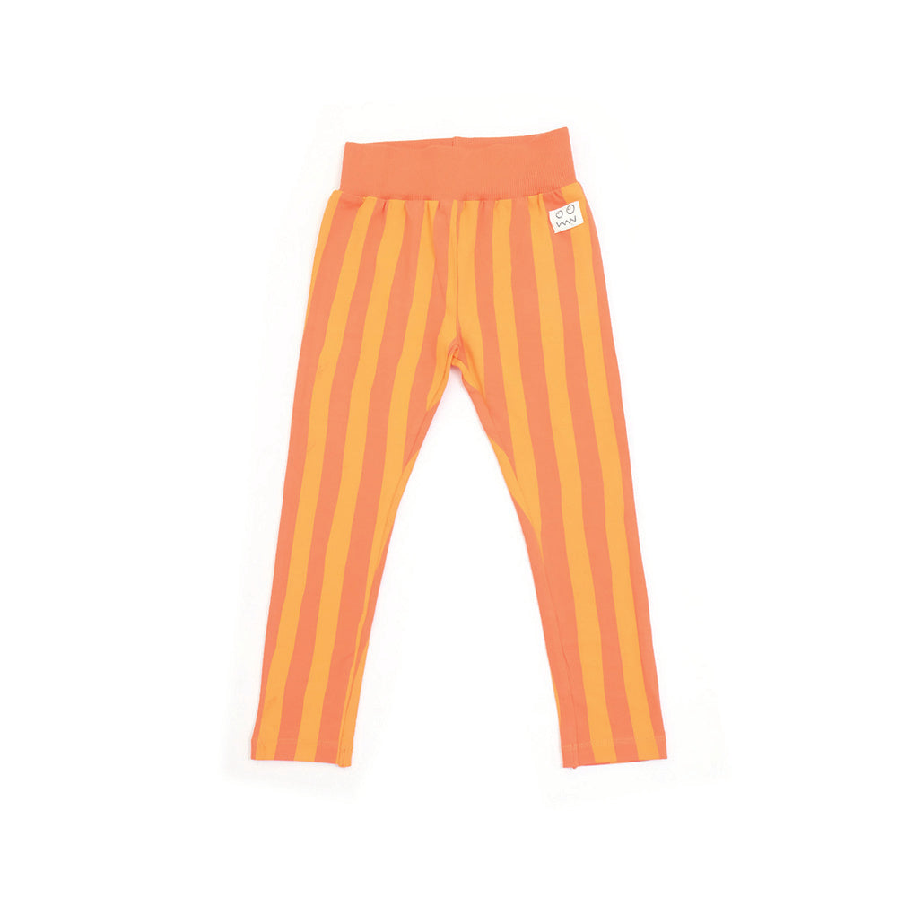 Cruise Orange Stripe Organic Cotton Leggings by Indikidual
