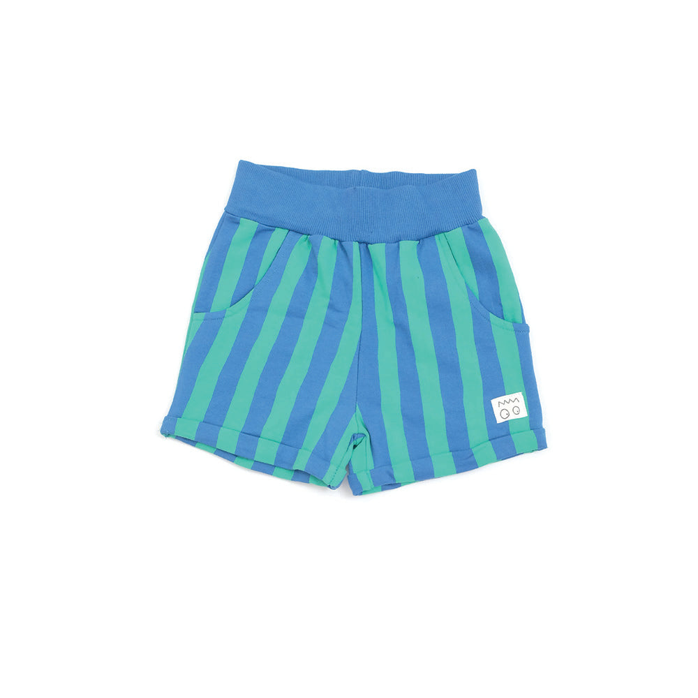 Detroit Blue Stripe Organic Cotton Kids Shorts from Indikidual