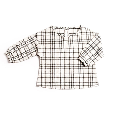 Check Flannel Blouse, Monkind- Trapeze Kids