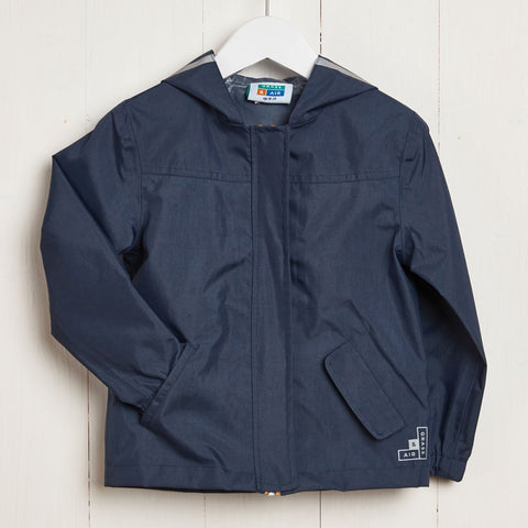 Rain Jacket Navy, Grass and Air- Trapeze Kids