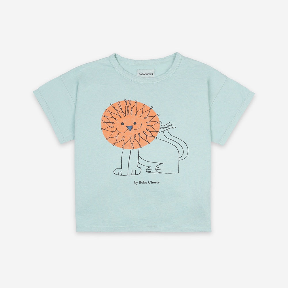 Pet A Lion kids Short Sleeve T-Shirt by Bobo Choses