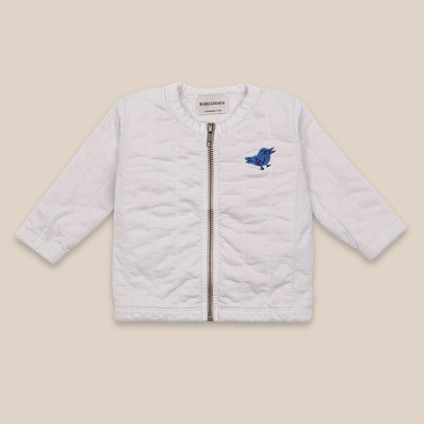 Bird Quilted Zip Sweater