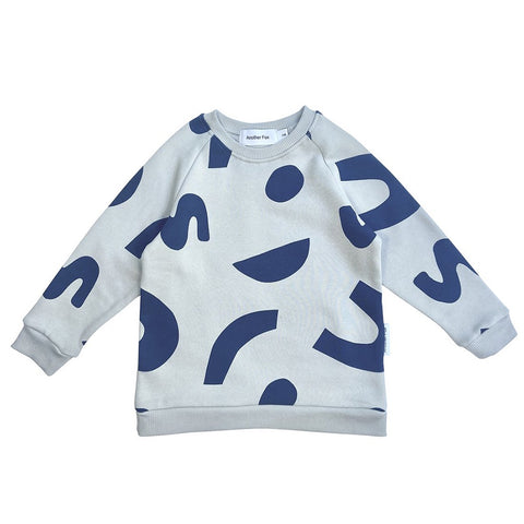 Grey Squiggle Sweatshirt