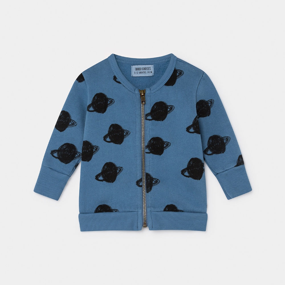 Big Saturn Zipped Baby Sweater, Bobo Choses- Trapeze Kids