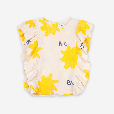 Sparkle All Over Kids Ruffle Top by Bobo Choses