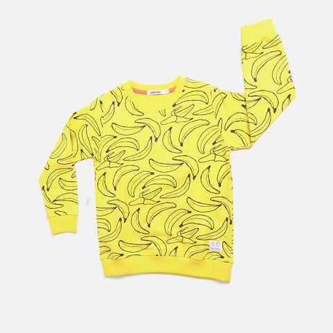 Monkey Banana Print Sweater, Indikidual- Trapeze Kids