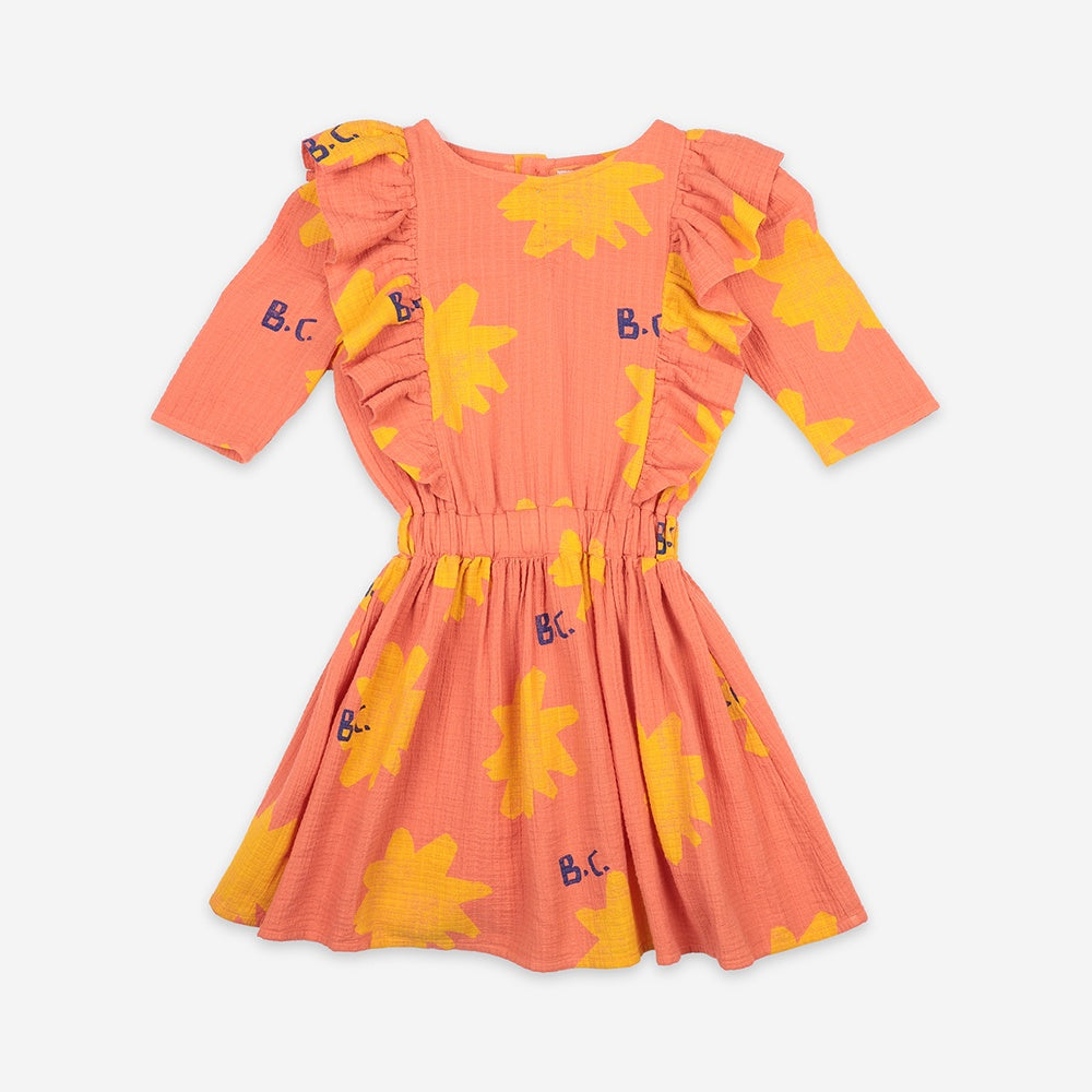 Sparkle All Over Woven Kids Dress by Bobo Choses