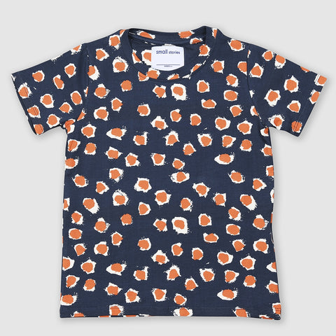 Orange Painted Dot Tee, Small Stories- Trapeze Kids