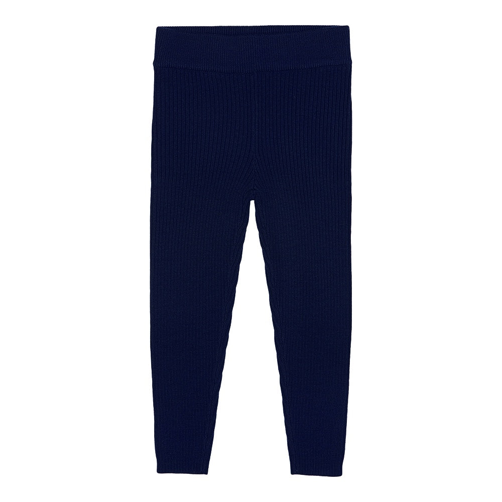 Fine Rib Leggings Navy, fub- Trapeze Kids