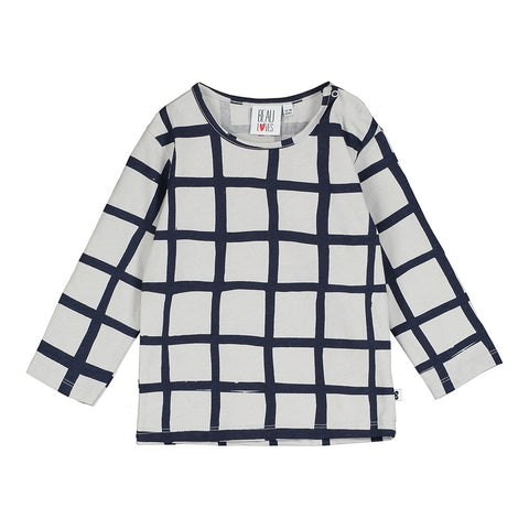Grid LS Baby  Tee, Beau Loves- Trapeze Kids