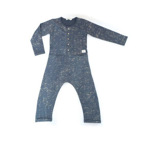 Splat Navy Marl Jumpsuit