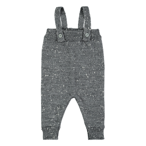 Grey Melange Knit Romper, Mini Sibling- Trapeze Kids