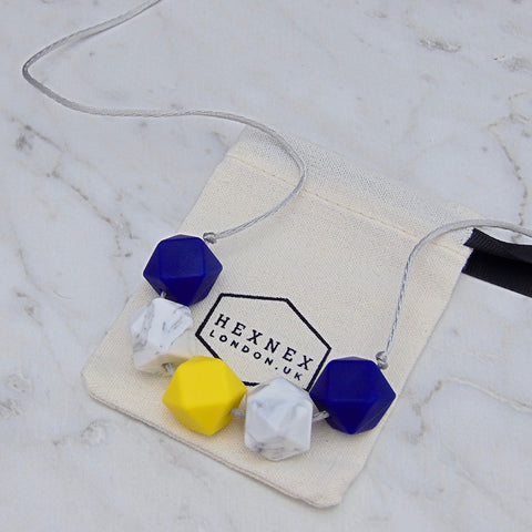 Loulou Yellow Teething Necklace, Hexnex- Trapeze Kids