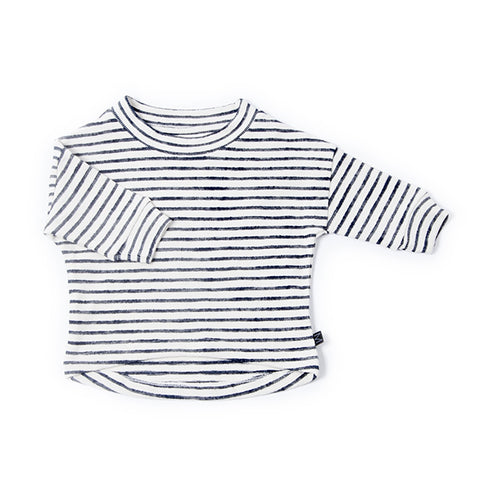 Denim Stripe Sweater, Monkind- Trapeze Kids