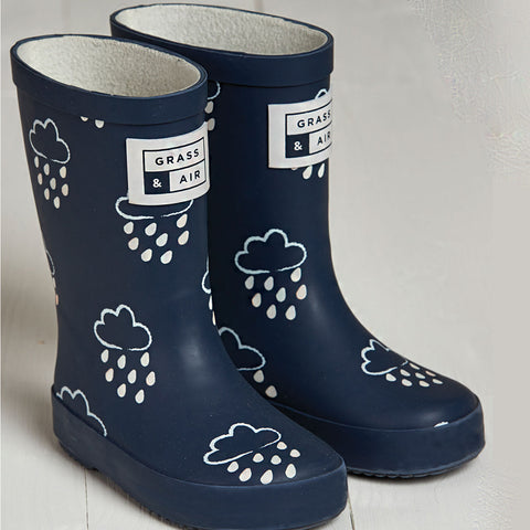 Colour Change Wellies Navy, Grass and Air- Trapeze Kids