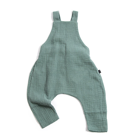 Teal Dungarees, Monkind- Trapeze Kids