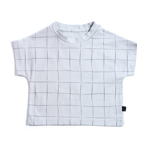 Teal Grid Shirt, Monkind- Trapeze Kids