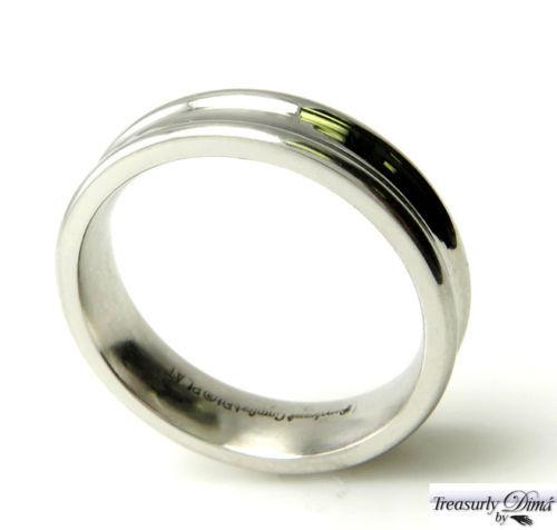 6 MM SOLID PLATINUM MEN'S CONCAVE HIGH POLISH WEDDING BAND RING SIZE 10 COMFORT | Treasurly by Dima - Exquisite Diamonds and Fine Quality Antique, Vintage, and Estate Jewelry
