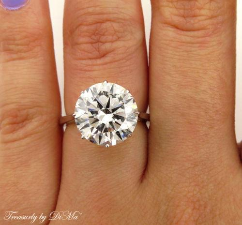 GIA 5.37CT ESTATE VINTAGE SOLITAIRE ROUND DIAMOND ENGAGEMENT WEDDING RING W GOLD | Treasurly by Dima - Exquisite Diamonds and Fine Quality Antique, Vintage, and Estate Jewelry
