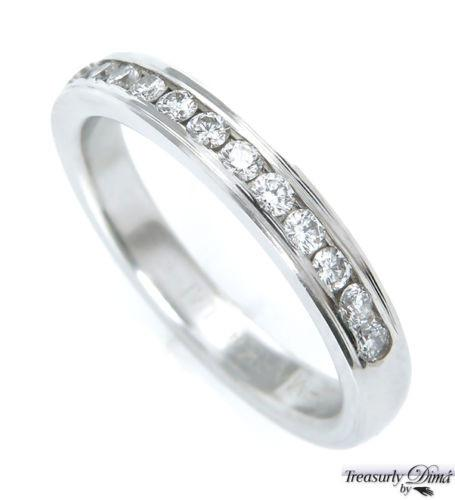 0.25CT SOLID PLATINUM ROUND DIAMOND WEDDING ANNIVERSARY BAND RING COMFORT FIT | Treasurly by Dima - Exquisite Diamonds and Fine Quality Antique, Vintage, and Estate Jewelry