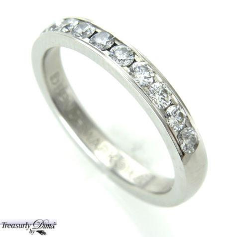 0.50CT PLATINUM ROUND CUT DIAMOND WEDDING ANNIVERSARY BAND RING COMFORT FIT | Treasurly by Dima - Exquisite Diamonds and Fine Quality Antique, Vintage, and Estate Jewelry