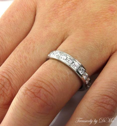1.00CT SOLID PLATINUM DIAMOND WEDDING ANNIVERSARY BAND RING COMFORT FIT | Treasurly by Dima - Exquisite Diamonds and Fine Quality Antique, Vintage, and Estate Jewelry