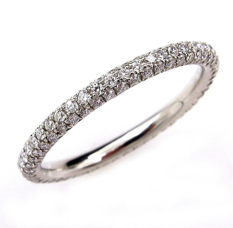 1.30ct Platinum 3 Row Pave Diamond Full Eternity WEDDING ANNIVERSARY Band Ring | Treasurly by Dima - Exquisite Diamonds and Fine Quality Antique, Vintage, and Estate Jewelry