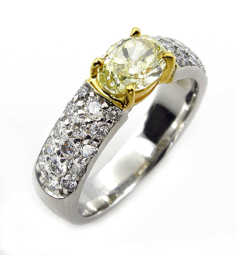 "GIA ""Canary"" 1.62ct Natural Fancy Yellow OVAL Diamond Ring 