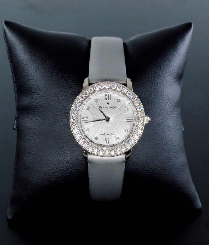 Swiss Pre-Owned Blancpain Diamond Self-winding Automatic 18k White Gold Ladies WATCH | Treasurly by Dima - Exquisite Diamonds and Fine Quality Antique, Vintage, and Estate Jewelry