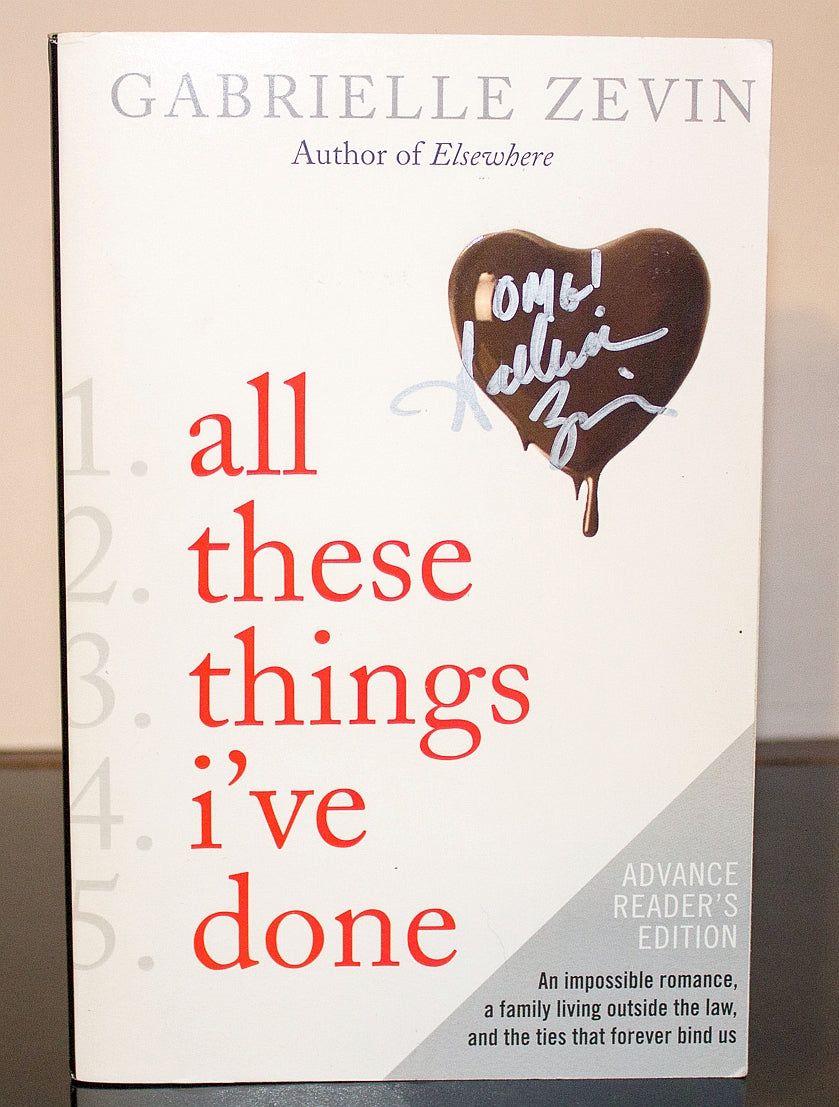 All These Things I've Done Birthright by Gabrielle Zevin SIGNED ARC 1st Edition