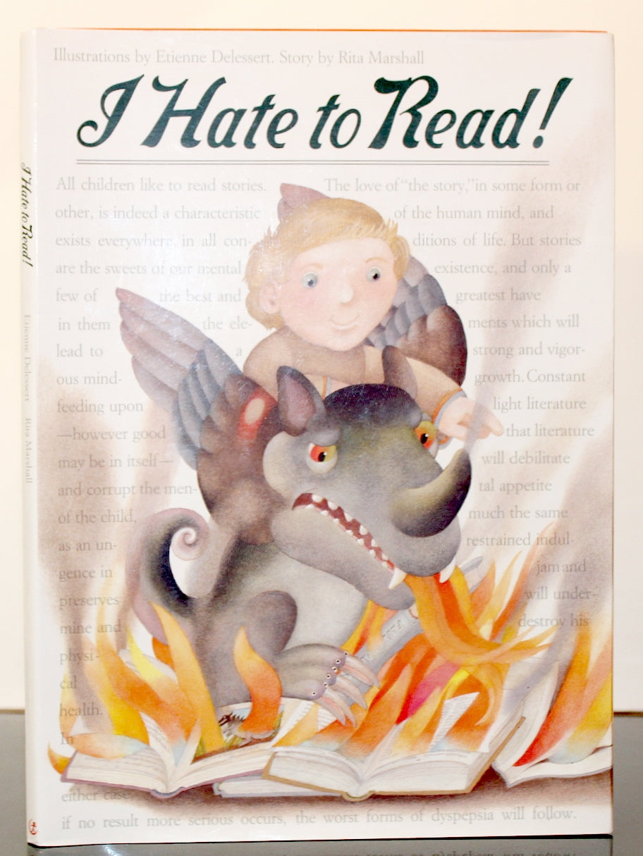 I Hate to Read! by Rita Marshall SIGNED Autograph First 1st Edition Book