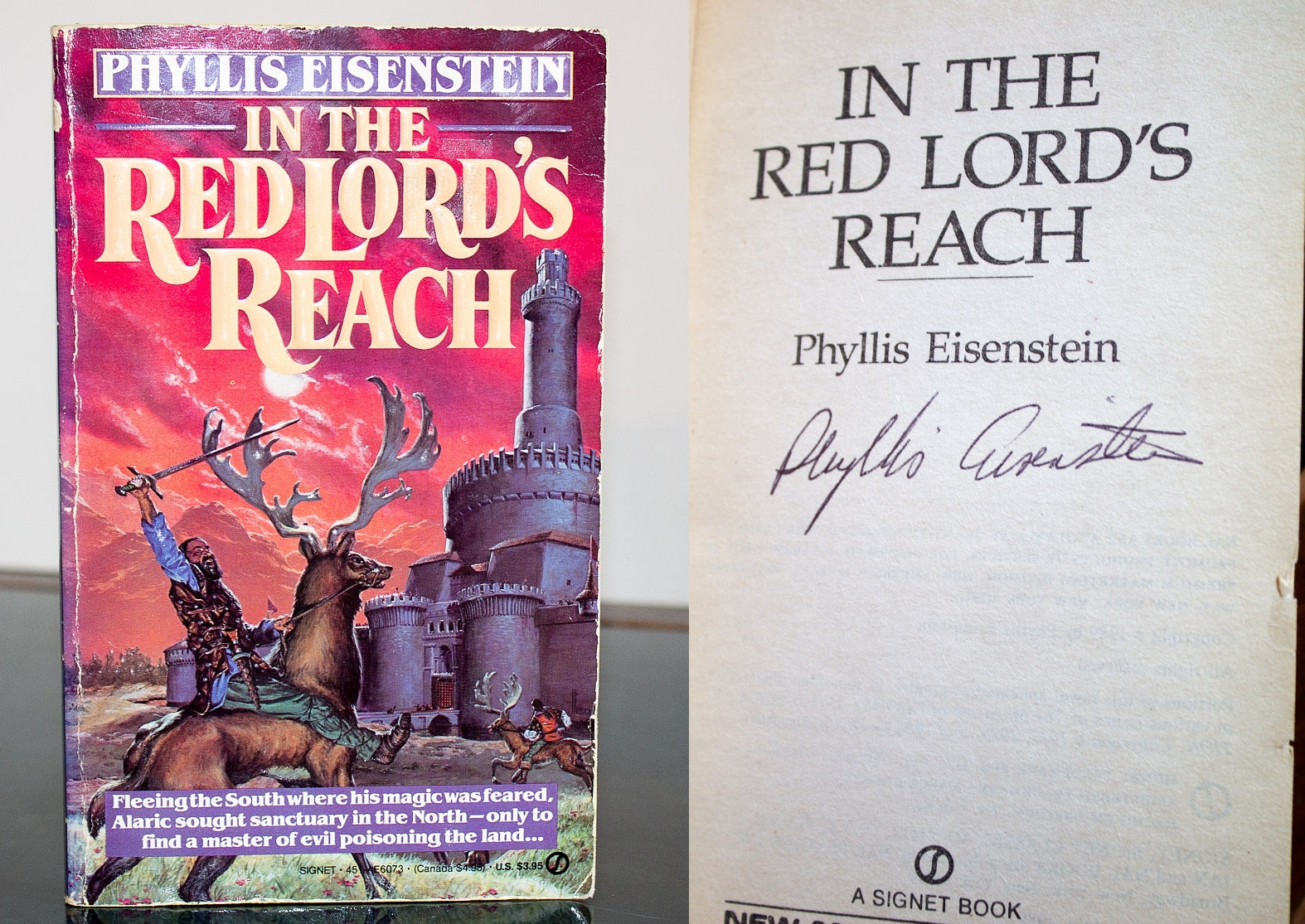 In the Red Lords Reach Tales of Alaric the Minstrel by Phyllis Eisenstein SIGNED